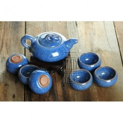 7pcs Exquisite Ice-Carck Tea Set, Porrtery Teaset,TB04, Free Shipping