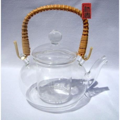 600ml Glass Coffee Pot, Tea pot, Teapot, Rattan Handle,B01, Free Shipping