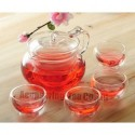 500ml Glass Coffee/Tea Pot+ 4 Double-wall Cup, Good Gift, B124, Free Shipping