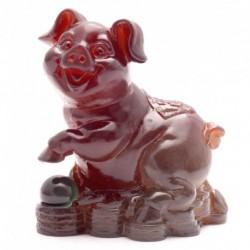 Yellow Pig, Lucky Charms,Chinese zodiac,Shenxiao,Allochroic Mascot,fengshui Ornament,novel gifts,Amazing present,Tea pet