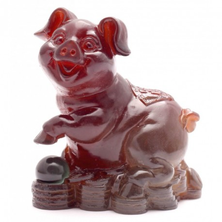 Yellow Pig, Lucky Charms,Chinese zodiac,Shenxiao,Allochroic Mascot,fengshui Ornament,novel gifts,Amazing present,Tea pet