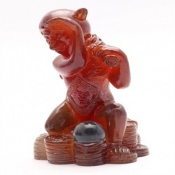 Yellow Monkey,Lucky Charms,Chinese zodiac,Shenxiao,Allochroic Mascot,fengshui Ornament,novel gifts,best present,Tea pet