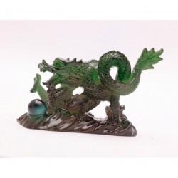 Amazing present, Allochroic Mascot, Green Dragon, Fengshui, Best Gifts, present,arts & Crafts,Ornament will change color,