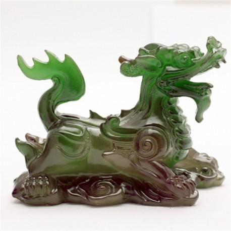 Allochroic Mascot,Green kylin, Chinese unicorn,Fengshui,Best Gifts,newfangled ,arts&Crafts,Ornament, tea pet