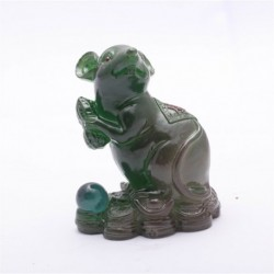 Green Mouse, Lucky Charms,Chinese zodiac,Shenxiao,Allochroic Mascot,fengshui Ornament,novel gifts,best present,Tea pet,S1015As