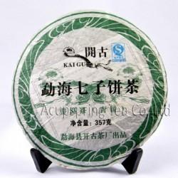 2012 Menghai Raw Puerh Tea,357g Conquer blood pressure Puer,Pu'er Tea,Sheng Cha