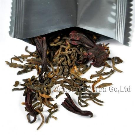 Roselle Puerh Tea, Hibiscus sabdariffa Puer, Natural herbal tea
