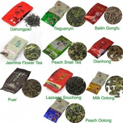 10 Kinds Flavours Tea, including Puerh,Black,Green,White tea, Oolong, Puer, Dahongpao, Tieguanyin, Free Shipping