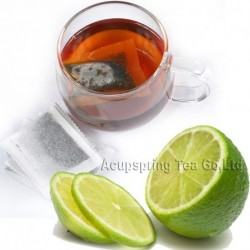 Lemon Flavor Puerh Teabag,Reduce Weight Ripe Pu-erh,Delicious