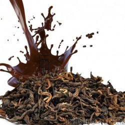 Chocolate Flavor Puerh Tea,Fruit flavor Loose Leaf Pu'er,Reduce Weight Ripe Pu-erh,CTX802