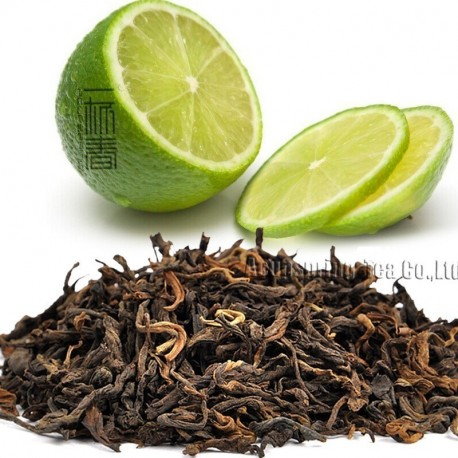 Lemon Flavor Puerh Tea,Fruit flavor Loose Leaf Pu'er,Reduce Weight Ripe Pu-erh,CTX813