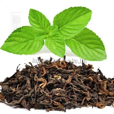 Mint Flavor Puerh Tea,Fruit flavor Loose Leaf Pu'er,Reduce Weight Ripe Pu-erh,CTX815