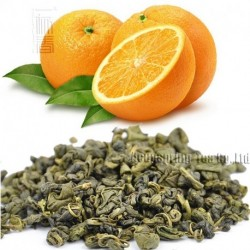 Orange Flavor Green Tea,Early Spring Biluochun,Reduce weight tea,CTX605